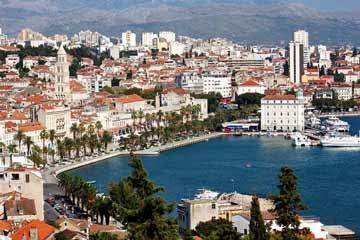 Blick auf Split in Kroatien