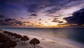 Sonnenuntergang in Cancun